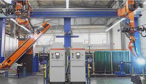 机器人焊接——印刷机滚筒